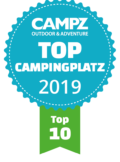 "Siegel ""Top Campingplatz Top 10"" der Campz Campingplatzwahl in der Schweiz"