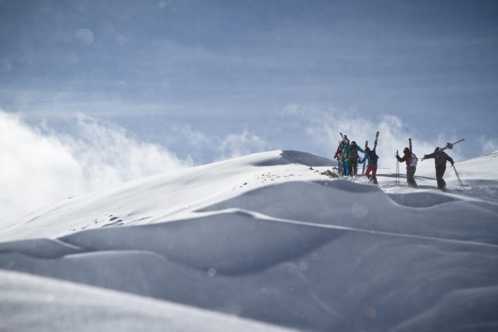 Winterlandschaft mit Freerider Dachstein