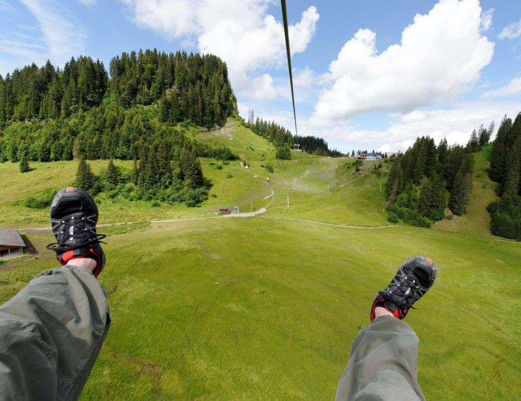 Mini-Abenteuer - Ziplining