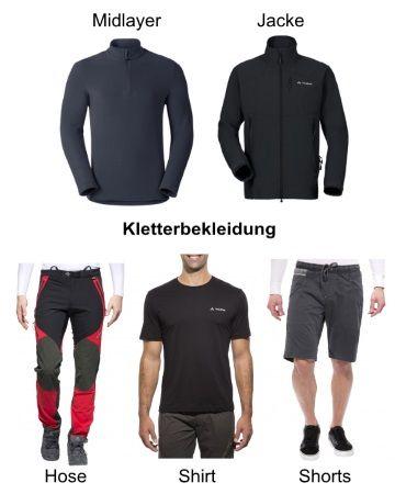 Kletterbekleidung