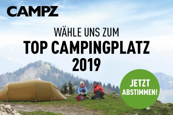 Campingplatzwahl 2019: Banner - Jetzt abstimmen